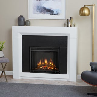 Real Flame Colton White Finish 48.25 in. L x 11.125 in. D x 40 in. H Electric Fireplace
