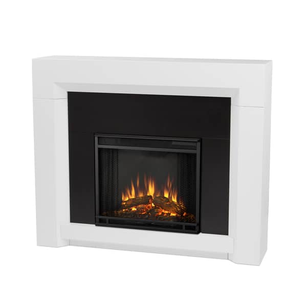 Shop Real Flame Colton White Finish Electric Fireplace Overstock