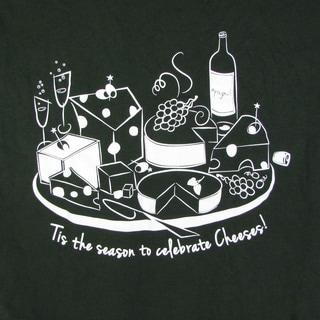 Gildan 100% Cotton Mens Tis The Season To Celebrate Cheeses Short Sleeve T-Shirt
