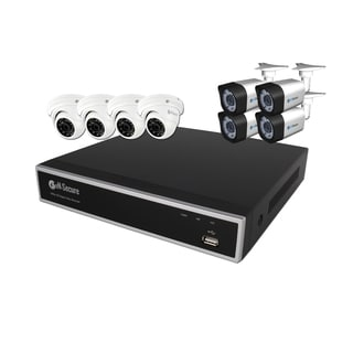 eN-Secure 8 Channel DVR CCTV Kit with 4 Bullet and 4 Dome Cameras