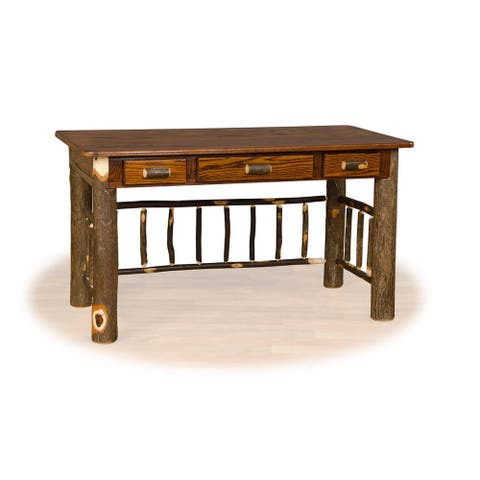 Rustic Hickory or Hickory & Oak Foreman / Office Desk