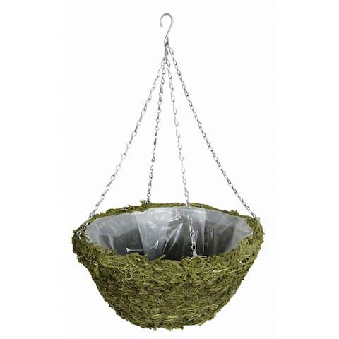 """Gardman R481 14"""" Green Moss Hanging Basket"""