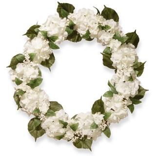 National Tree Company 32-inch Cream Hydrangea Wreath