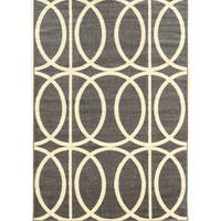 "Power Loomed Claremont Links Grey.cream Polypropylene Rug (1'10"" X 2'10"")"