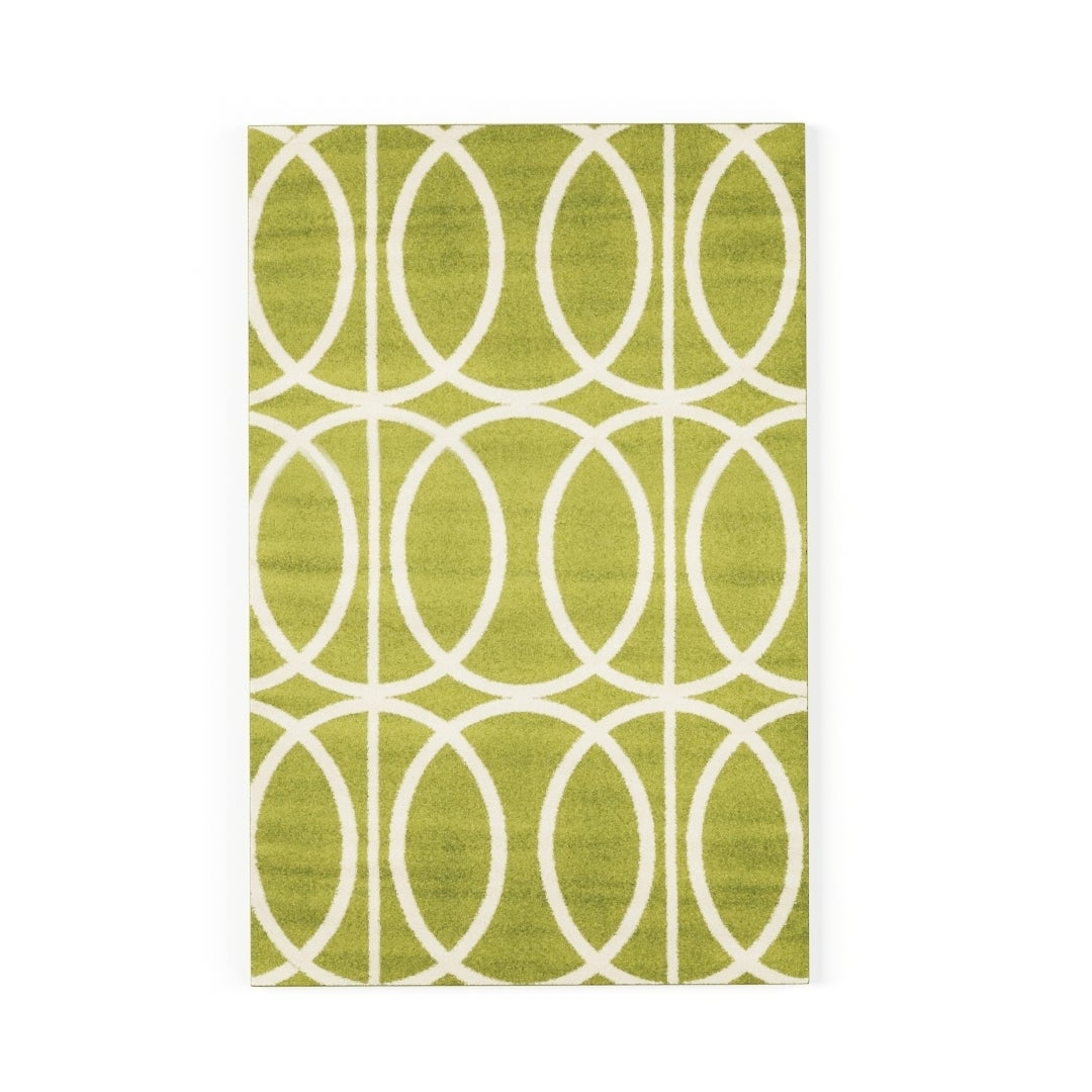 Carson Carrington Koge Green/Cream Area Rug (1'10 x 2'10)