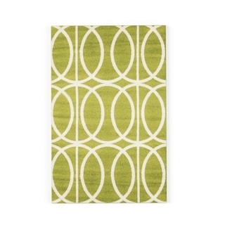 Carson Carrington Koge Green/Cream Area Rug (1'10 x 2'10) - Thumbnail 0