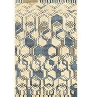 Hand Tufted Aspire Triangle Ivory/Grey Wool Rug (8' x 11')