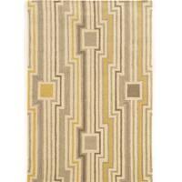 Hand Tufted Aspire Board Grey/Yellow Wool Rug (8' x 11')