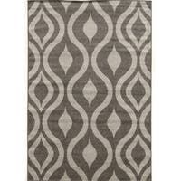 Power Loomed Claremont Drops Grey Polypropylene Rug (8' X 10')