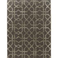 Hand Tufted Aspire X's Grey Wool Rug (5' x 8')