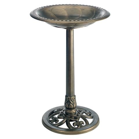 Gardman BA01281 Bronze Pedestal Bird Bath