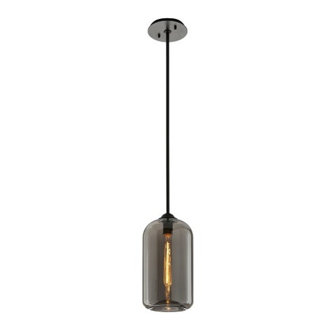 Troy Lighting District 8-inch Satin Black Pendant