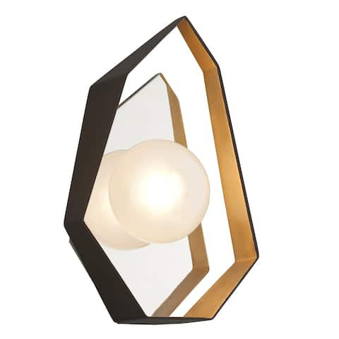 Troy Lighting Origami LED Bronze with Gold Leaf Wall Sconce