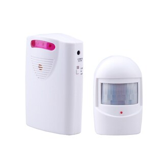 Sontax Blue Wireless Security Motion Detector Alert System - White