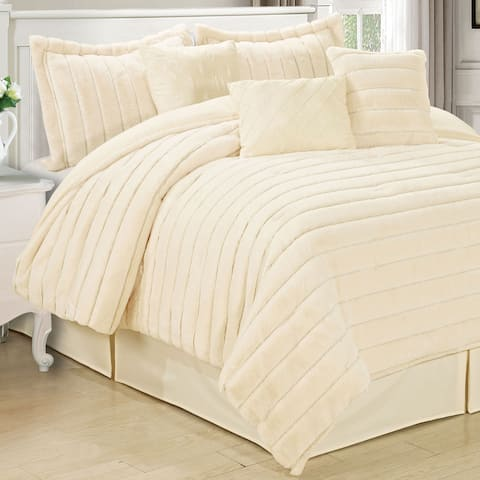 Serenta Faux Fur 7-piece Comforter Set