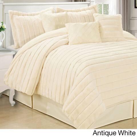 Serenta Faux Fur 7-piece Comforter Set