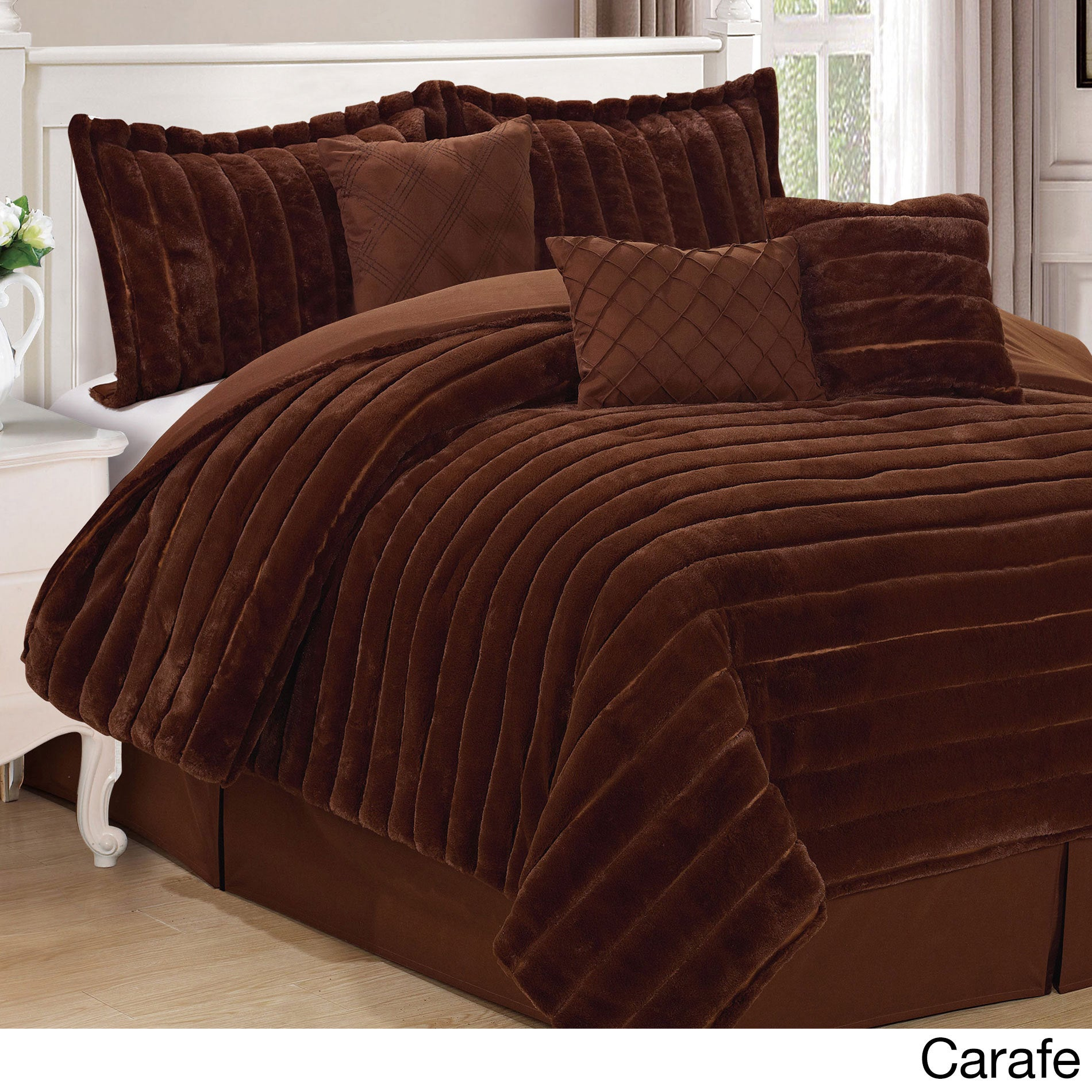full faux wid comforter p cannon prod hei queen brown qlt fur