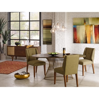 INK+IVY Portland Sage/Pecan Dining Chair (Set of 2)