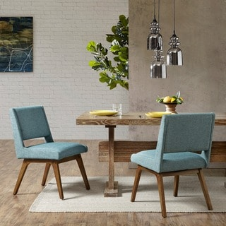 INK+IVY Boomerang Blue Dining Chair (Set of 2)
