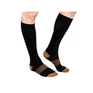 Black Copper Infused Calves-high Therapeutic Compression Socks (Pack of 6)