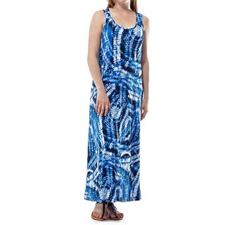 La Cera Women's Polyester Blend Sleeveless Printed Dress