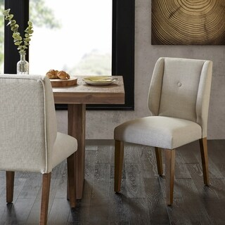 "INK+IVY Portland Light Grey/ Pecan Dining Chair (Set of 2) - 19.75""w x 25""d x 36.5""h (2)"