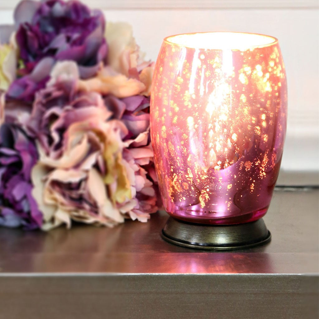 River Of Goods Pink Glass Votive Uplight Accent Lamp (Mer...