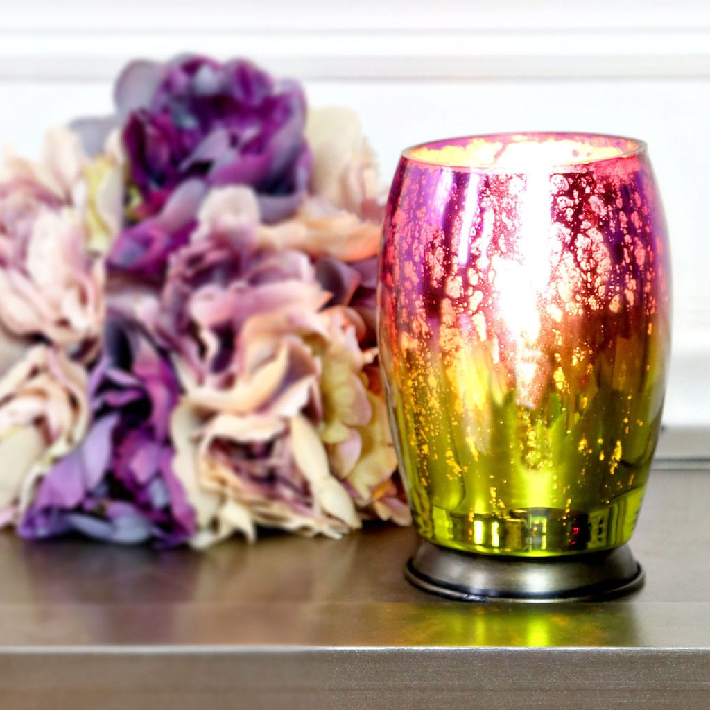 River Of Goods Handblown Purple Green Mercury Glass 5.8-i...