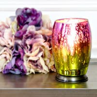 River of Goods Handblown Purple Green Mercury Glass 5.8-inch Votive Uplight Accent Lamp