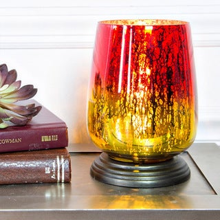 River of Goods Red and Yellow Glass Uplight Accent Table Lamp