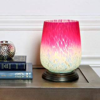 River of Goods Magenta and Blue Glass Uplight Lamp