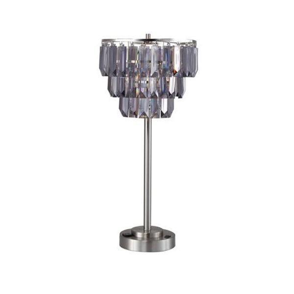 QMax Decorative Designer Faux Crystal Floor Lamp