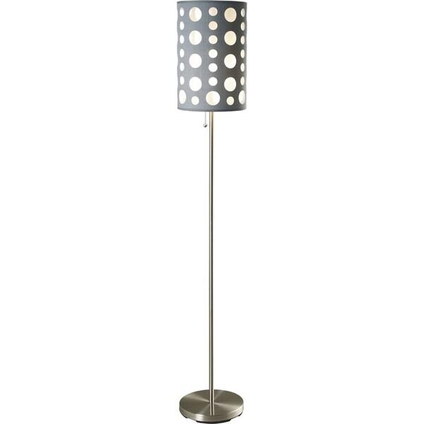 QMax Grey Metal 62-inch Retro Dual-shade Floor Lamp