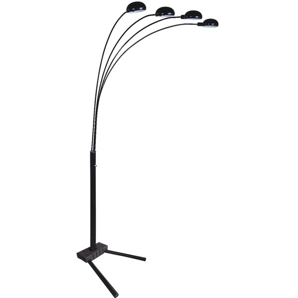 QMax Black 80-inch Modern Arms Arch Floor Lamp