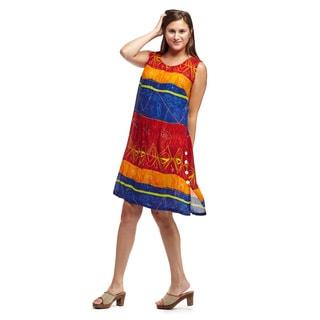 La Cera Women's Sleeveless Round-neck Dress
