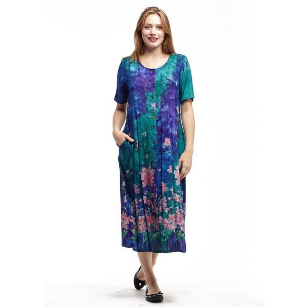 La Cera Women's Rayon Sleeveless Round Neck Dress