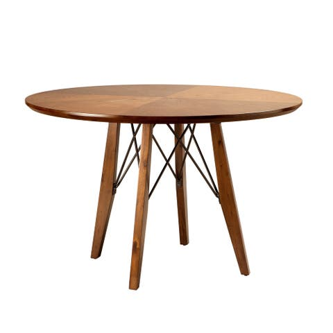 INK+IVY Clark Pecan Round Dining/Pub Table