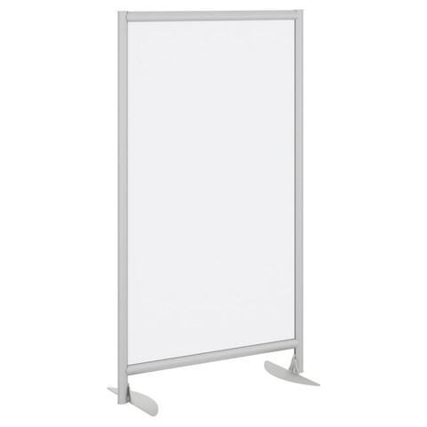 Bush Business Furniture Frosted Acrylic Freestanding Screen With Stationary Base