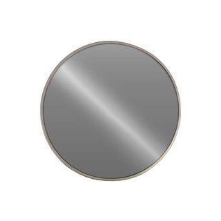 Urban Trends Collection Champagne Metallic-finish Metal Round Wall Mirror