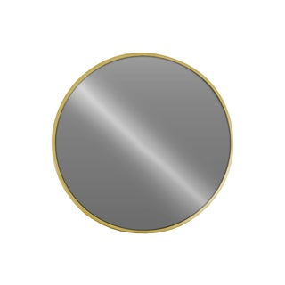 Urban Trends Collection Gold-finished Metal/ Glass Round Wall Mirror