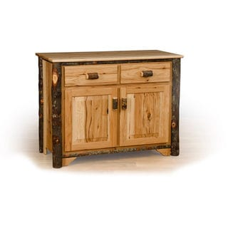 Rustic 2 Door Buffet - Hickory & Oak or All Hickory