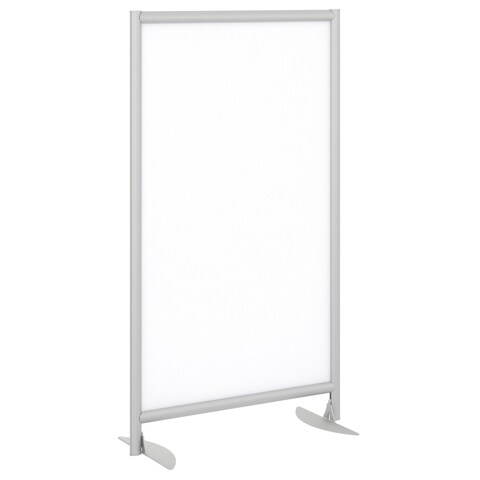 Bush Business Furniture Freestanding Whiteboard Screen with Stationary Base