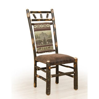 Two Rustic Hickory  High Back Dining Chairs