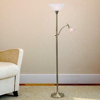 72 inch Mother/Daughter Floor Lamp in Antique Brass.