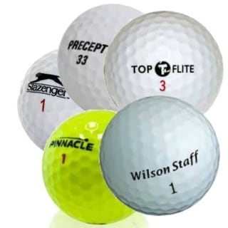 Assorted Recycled Grade C Golf Balls with Mesh Bag (Pack of 100)