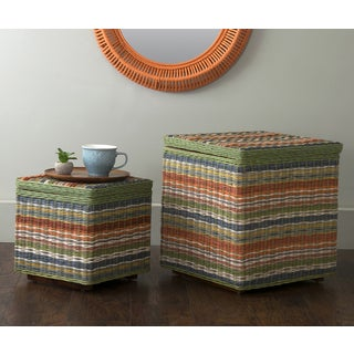 East At Main's Hawthorne Multi-Colored Storage Cubes - Set of 2