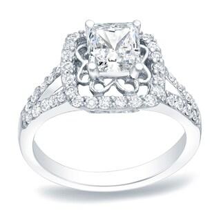 Auriya Platinum 1ct TDW Princess Cut Diamond Engagement Ring