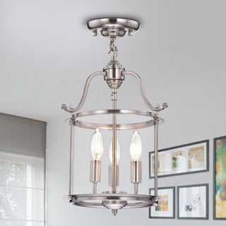 Liliana Indoor 3-light Glass Flush Mount Chandelier
