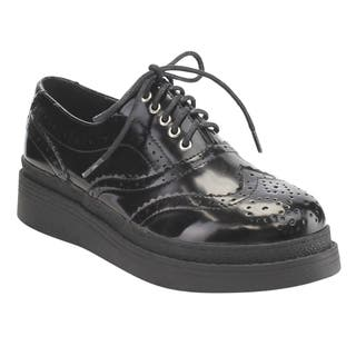 C Label Women's AE43 Faux Leather Lace-up Perforated Wingtip Brogue Platform Wedge Oxfords|https://ak1.ostkcdn.com/images/products/13187074/P19909076.jpg?impolicy=medium