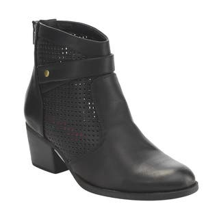 C Label Women's Faux Leather Rear-zipper Perforated Block Heel Ankle Booties|https://ak1.ostkcdn.com/images/products/13187075/P19909077.jpg?impolicy=medium